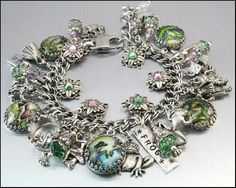 I love this frog charm bracelet...there are so many pretty elements to it, its just so nice.