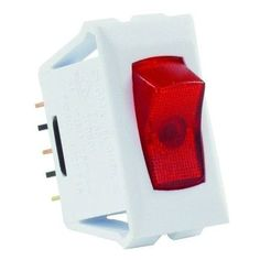 JR Products 12505 Red/White Spst Illuminated On/Off Switch