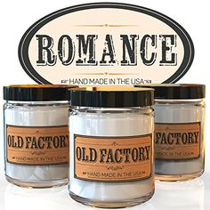 Scented Candles - Romance - Set of 3: Rose Petals, Champagne, and Dark Chocolate - 3 x 4-Ounce Soy Candles >>> Want additional info? Click on the image.