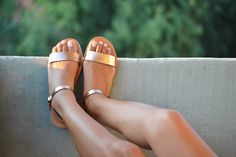 Sandals Leather sandals Ankle strap sandals Greek by SAVOPOULOS