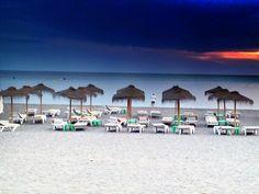 Atardecer en la playa.