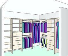 l shaped walk in wardrobe inserts Corner Wardrobe, Walk In Wardrobe, Wardrobe Design, Walk In Closet, Master Bedroom Closet, Bedroom Wardrobe, Wardrobe Organisation, Closet Organization, Closet Storage