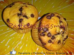 Cupcakes de vainilla con chispas de chocolate