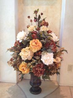 Large Brown & Gold Arrangement - Krista's Floral Creations