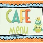 FREE-This is a crafty Owl Themed set of CAFE Menu Posters.  It is meant to be used with