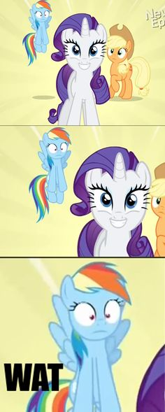"Dashie: ""Seriously, who DOES that?"" All of a sudden... RARITY"