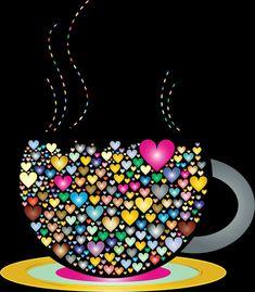 Nice colors, thank you Daizo💗💙💘 - Bilder - Coffee I Love Coffee, My Coffee, Morning Coffee, Good Morning, Monday Coffee, Coffee Cafe, Coffee Shop, Coeur Gif, I Love Heart