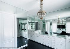 Chic: After working with designer Jeff Andrews, the youngest member of the Kardashian clan appeared to opt for a monochrome theme with each room boasting an unique design