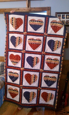 American Heart by quiltingmathteacher on Etsy, $100.00