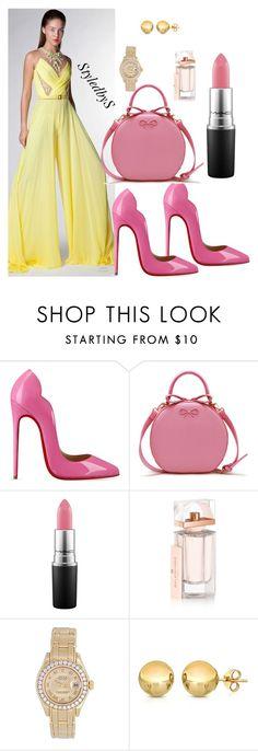 """StyledbyS"" by sforstylebys on Polyvore featuring Christian Louboutin, MAC Cosmetics, Balenciaga, Rolex, Sevil Designs, women's clothing, women's fashion, women, female and woman"