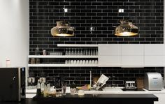 """We have collected some really great Black Subway tiles design to give that modern touch to your kitchen. Checkout """"18 Black Subway Tiles In Modern Kitchen Design Ideas"""" and get inspired."""