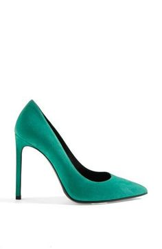 Suede, Pointy Toe Pump