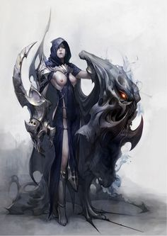 Digital Art | sekigan: ArtStation - evil woman, Boo bi