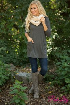 We are so excited to restock our fabulous button back tunics for fall! This bestselling tunic is simply an essential for all of your fall adventures!