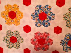 Mini Grandmother\'s Flower by MountainBottomQuilts on Etsy