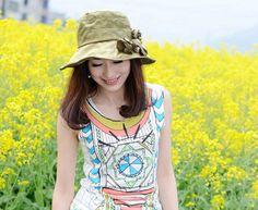 a15ed514e09 Khaki Outdoor Fish Bucket Sunshade Cap for Women. Caps ...