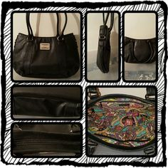 👜 Nicole Miller Black Shoulder Bag 👜 ❌FINAL❌ This Is A Black Shoulder Bag By Nicole Miller It Has 2 Interior Slip Pockets And One Zippered Interior Pocket. This Bag Zippers Closed And Is In Excellent Preloved Condition. Only Used A Few Times 🚫 TRADES 🚫 PayPal 🚫 NO OFFERS FINAL MARKDOWN  👜 Nicole Miller Bags Shoulder Bags