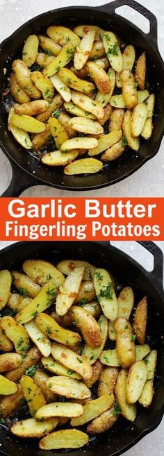 Garlic Butter Roasted Fingerling Potatoes – easiest and best roasted potatoes ever with only 5 ingredients and takes 30 mins from prep to dinner table. So good   rasamalaysia.com by eunice