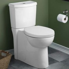 American Standard White Studio Right Height Round-front Siphon Dual Flush Toilet Combo - 16699549 - Overstock - Great Deals on American Standard Toilets - Mobile