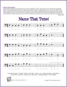 (Bass Clef) | Free Note Name Worksheet
