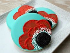 Cookie Decoration - Poppies - Sweet Adventures of Sugarbelle