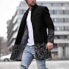 Shop pardessus couleur imprimé décontracté pour hommes online with high quality and hurry to get fashion on nikiluwa.com quickly.