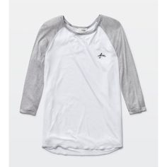 Wilfred Free pajak t-shirt Aritzia ($45) ❤ liked on Polyvore featuring tops, t-shirts, baseball t shirt, wilfred, wilfred t shirt, baseball top and baseball tee