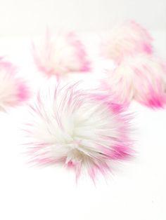 Bubblegum Faux Fur Pom Poms – Warehouse 2020 More Code, Faux Fur Pom Pom, Bubble Gum, Pom Poms, Bright Pink, Make It Yourself, 6 Inches, Warehouse, Cord
