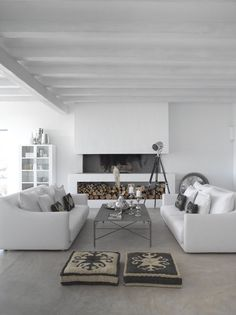 Lovely white living space