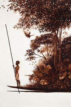 """Utria"" Painting Collage, Verbena, Art Drawings, Mixed Media, Illustration Art, Art Gallery, Sketch, Fantasy, Fine Art"