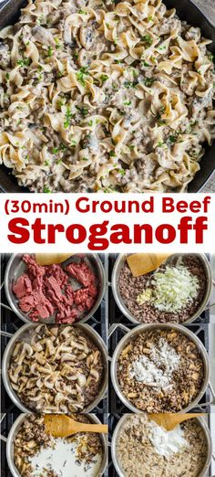 Ground beef stroganoff is an easy 30 minute one-pan dinner. All the great flavors of stroganoff made even easier using ground beef. recipes with ground beef Ground Beef Stroganoff Recipe Ground Beef Recipes For Dinner, Dinner With Ground Beef, Easy Dinner Recipes, Recepies With Ground Beef, Meals To Make With Ground Beef, Ground Beef Meals, Recipes Using Ground Beef, Cooking With Ground Beef, Easy Recipes