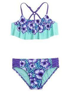 Floral Flounce Bikini Swimsuit | Girls {category} {parent_category} | Shop Justice