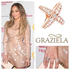 "Last night the always fashionable Jennifer Lopez was spotted in our new Rose Couture X Ring at the launch of the ""Put Your Money Where The Miracles Are"" campaign."