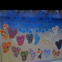 cdcde5dbb I looked everywhere for Flip Flop cut-outs. I made a pattern and used  scrapbook paper to make my own for my bulletin board. (we are flip flopping  into ...