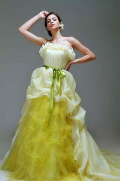 pretty dress in pale green