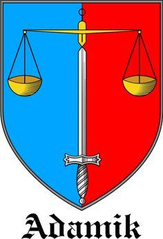 adamik Coat Of Arms   Adamik coat of arms / Adamik family crest