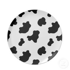 Country Cow Pattern Fun Plate