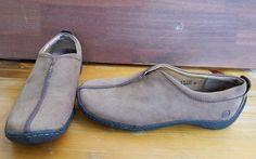 71d391cccfa8 Born Slip On Shoes Womens Sz 6.5 US 37 EU Brown Nubuck Suede