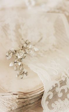 Rhinestone and vintage lace, two of my favourites.