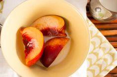 Nectarines and Cardamon Cream