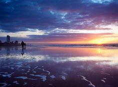 In één woord: WOW! Dit is het #strand in #Zandvoort #Nederland #water #zee #wolken #lucht #travelbird