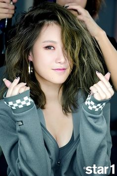 Yezi and her photoshoot for Star1 has been posted before, but she also gave an interview to the publ