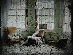 day room, west park asylum