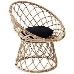 Harti Scoop Rattan Armchair ($7.67) ❤ liked on Polyvore featuring home, furniture, chairs, accent chairs, rattan furniture, rattan accent chair, rattan armchair, rattan chairs and rattan arm chair