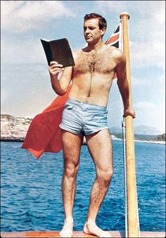 James Bond/Sean Connery  The original can't be beat in his Thunderball swimwear.