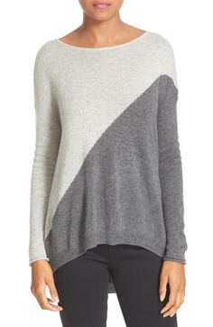 Alice + Olivia Abbie Colorblock High/Low Pullover available at #Nordstrom