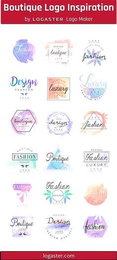 Logaster Logo Maker presents: Boutique Logo Design Ideas Boutique Logo, Boutique Clothing, Logo Inspiration, Clothing Logo Design, Fashion Logo Design, Ideas Para Logos, Logo Ideas, Delivery Logo, Logo Maker Free