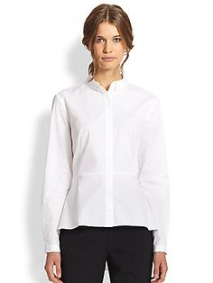 A wardrobe basic, the white shirt is a guaranteed go-to piece for skirts, trousers, and jeans alike. Classic White Shirt, Elie Tahari, Kendall, Fashion Beauty, Trousers, Chic, Blouse, My Style, Sweaters