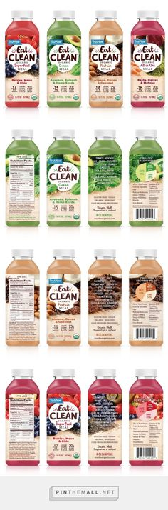 Detox juices design Truvibe Eat Clean - Packaging of the World - Creative Package Design Gallery - Organic Packaging, Fruit Packaging, Food Packaging Design, Beverage Packaging, Pretty Packaging, Packaging Design Inspiration, Brand Packaging, Crea Design, Food Design