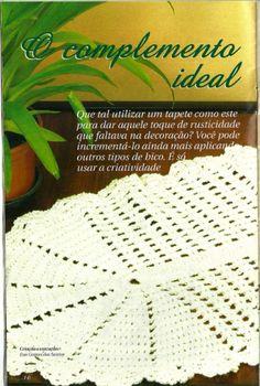 Tapete de Crochê, Passo a Passo - Dicas super práticas e simples para você fazer e conquistar seu espaço até no mercado de trabalho.